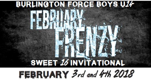 Burlington Force Feb 3-4 2018 Tournament U14