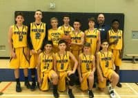 2017-11 Force U14 Rep Boys Basketball Team Silver Medal Winners
