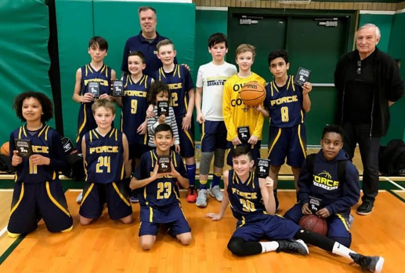 2018-02 Burlington Basketball Boys Force U12 Lucyk Tournament Silver Finalists Brantford ON