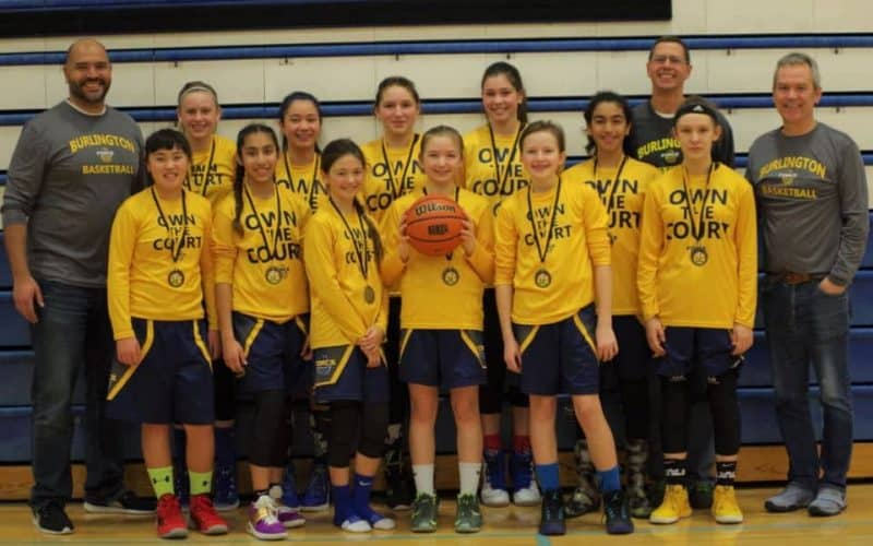 2018-02 U13 Burlington Force Girls Win Gold Blessed Div 3