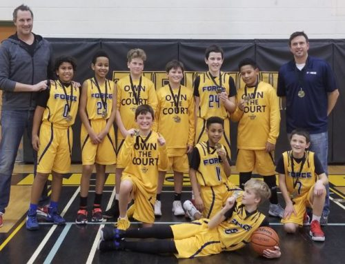 FORCE U12 Boys Sweep Ancaster Tournament, Win Gold