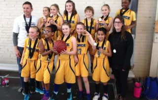 2018 U10 Girls Force Basketball WIn HoopDome SIlver