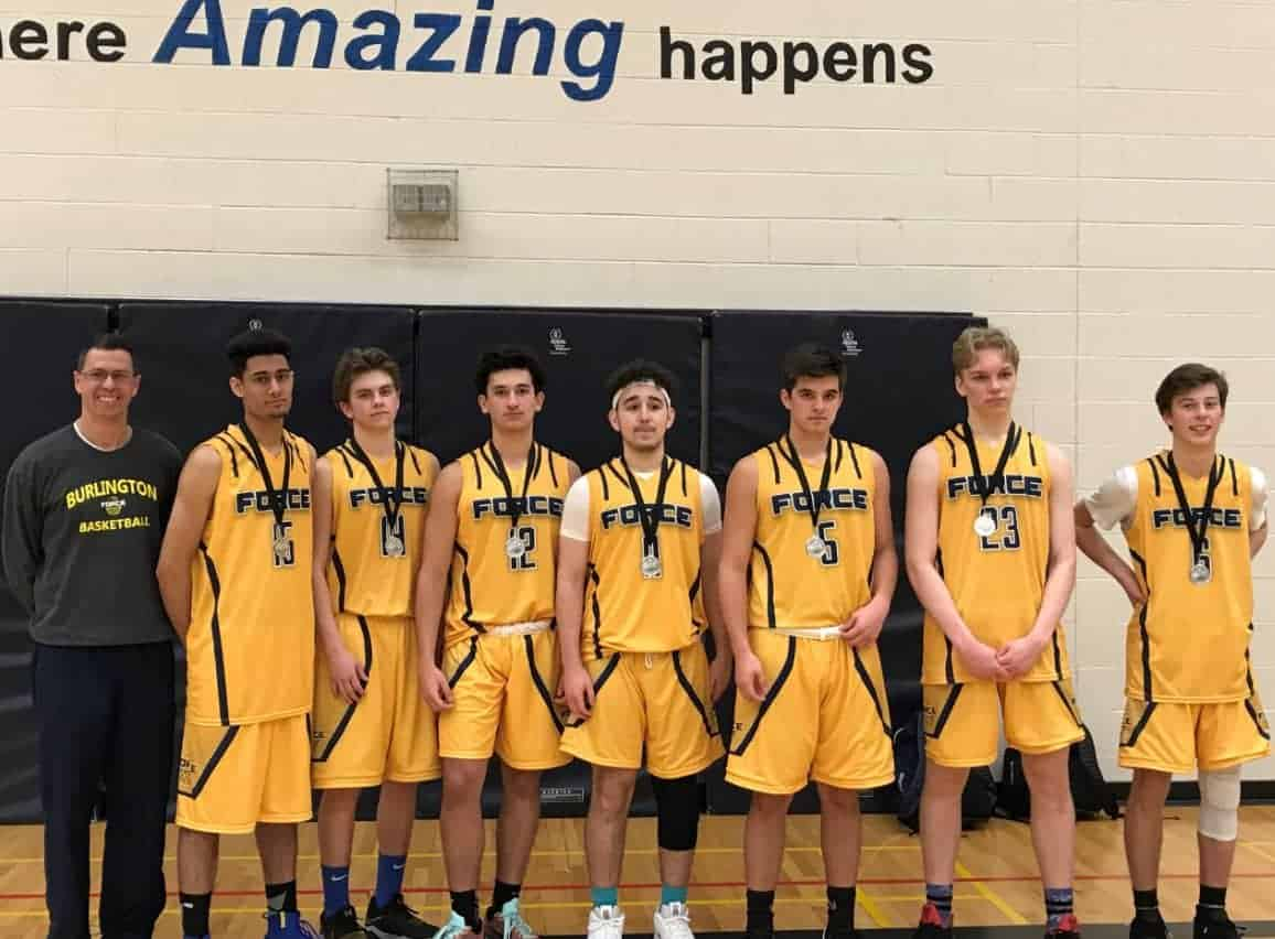 2018-04 U17 Boys Burlington FORCE Basketball Silver Medal at IEM Newmarket Tournament