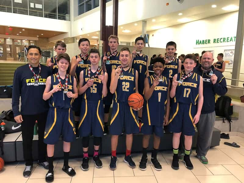 Burlington FORCE U14 Boys OBL Champions