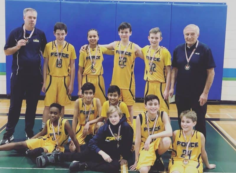 2018 U13 Boys Force St Catharines Basketball Tournament Champions