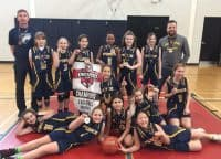 2019-03 U10 Girls D1 Basketball Champions