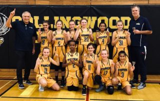 2019 U12 Girls Burlington Basketball Collingwood Tourney Champs
