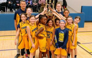 2020 U10 Girls FORCE Basketball Team